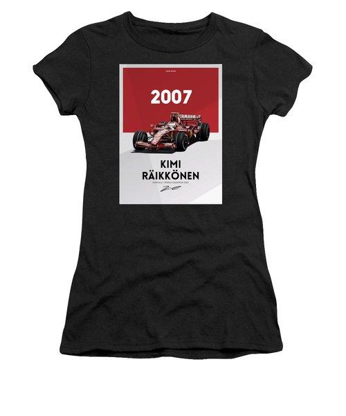 Kimi Raikkonen 2007 Women's T-Shirt