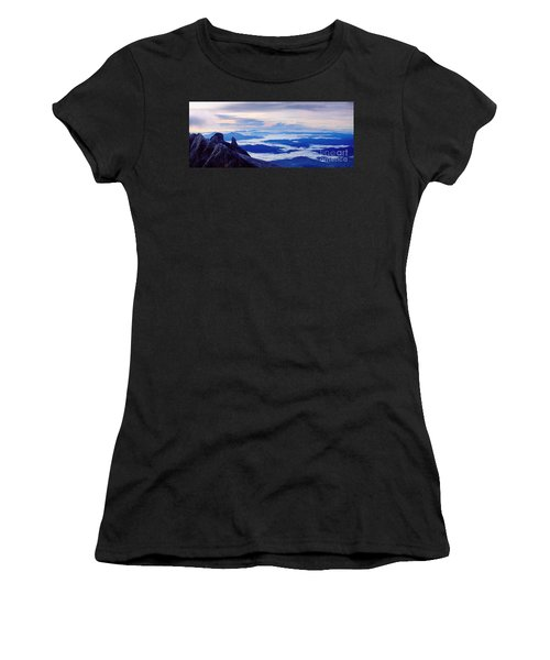 Kinabalu Panorama Women's T-Shirt (Athletic Fit)