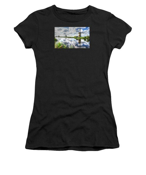 Kinderdijk Women's T-Shirt (Athletic Fit)
