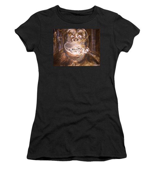 King Kong - Deleted Scene - Kong With Native Women's T-Shirt (Athletic Fit)