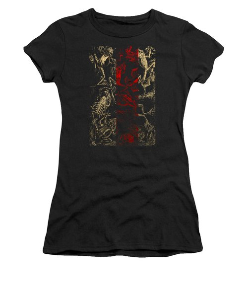 Kingdom Of The Golden Amphibians Women's T-Shirt (Junior Cut) by Serge Averbukh