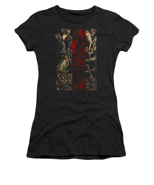 Kingdom Of The Golden Amphibians Women's T-Shirt (Junior Cut) by Serge Averbukh