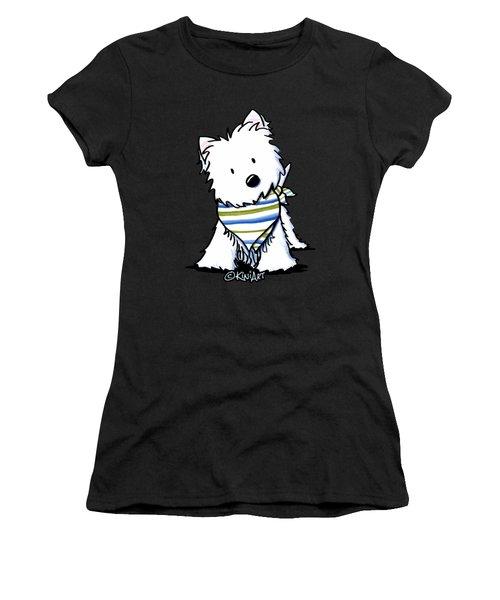 Kiniart Westie Terrier Women's T-Shirt (Athletic Fit)