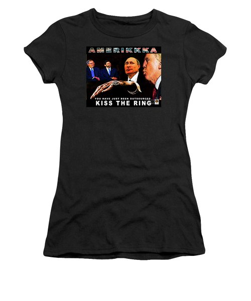 Kiss The Ring Women's T-Shirt (Athletic Fit)