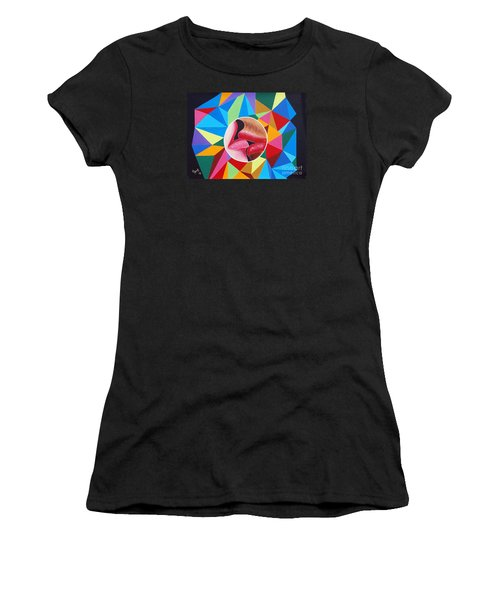 Kissing On The Lips Women's T-Shirt (Athletic Fit)