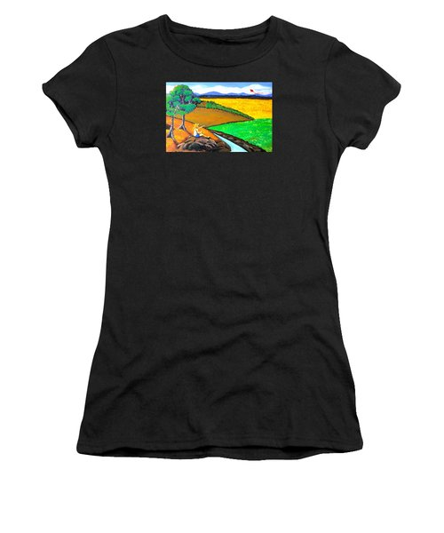 Kite Women's T-Shirt (Athletic Fit)