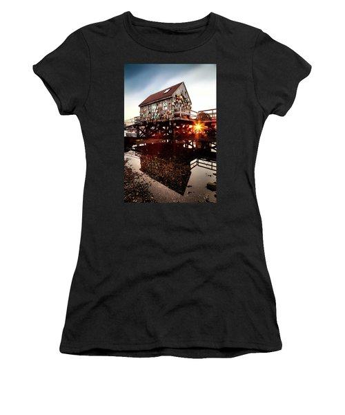 Kittery Lobster Shack Women's T-Shirt (Athletic Fit)