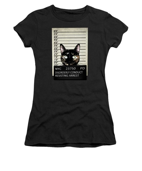 Kitty Mugshot Women's T-Shirt (Athletic Fit)