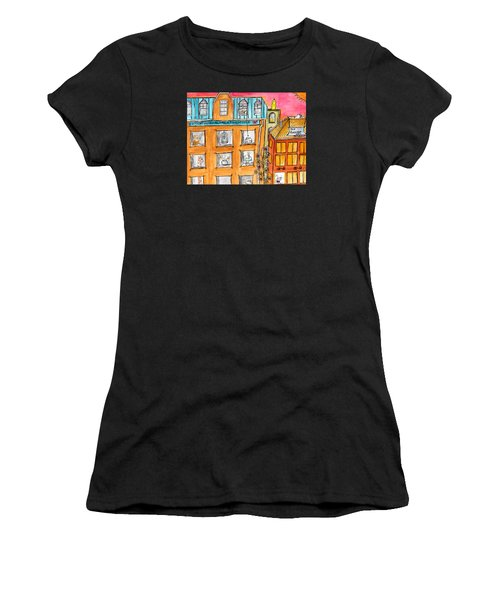 Kittyscape Hotel Women's T-Shirt (Athletic Fit)