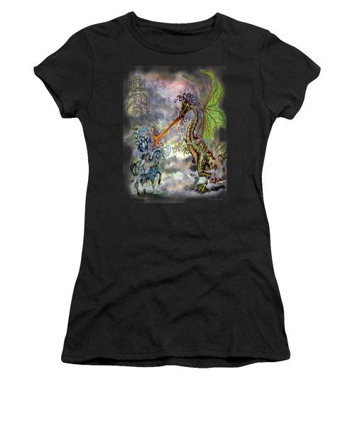 Knights N Dragons Women's T-Shirt (Athletic Fit)