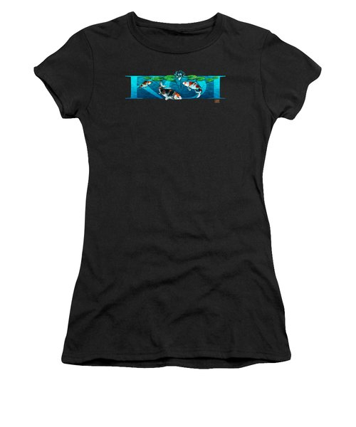 Koi With Type Women's T-Shirt (Athletic Fit)