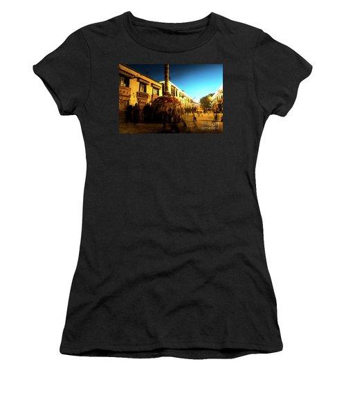 Kora At Night At Jokhang Temple Lhasa Tibet Artmif.lv Women's T-Shirt