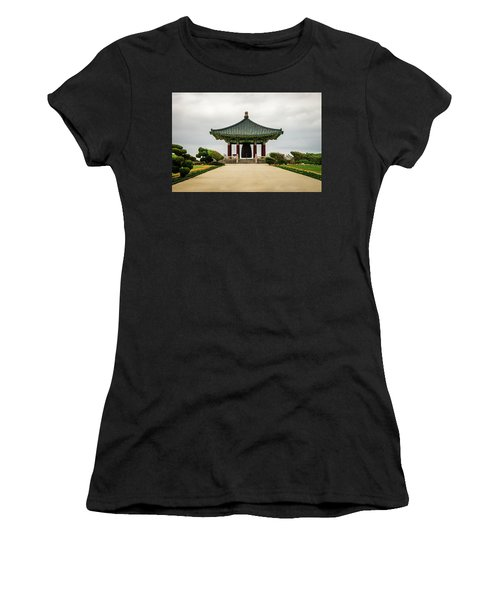 Women's T-Shirt (Athletic Fit) featuring the photograph Korean Bell Of Friendship by Ed Clark