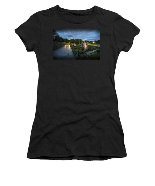 Women's T-Shirt (Athletic Fit) featuring the photograph Korean War Memorial by David Morefield