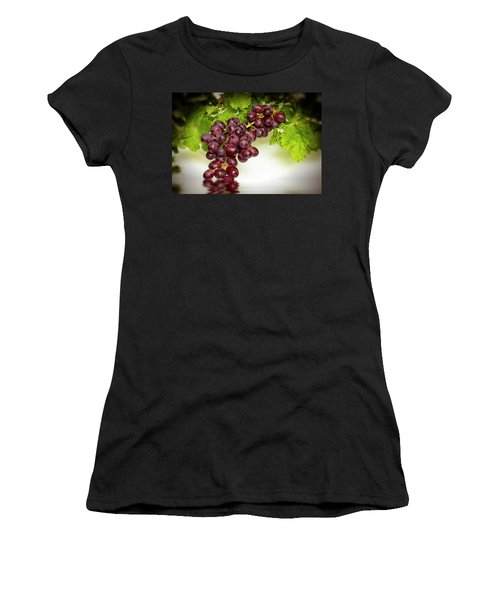 Krissy Gold Grapes Women's T-Shirt (Athletic Fit)