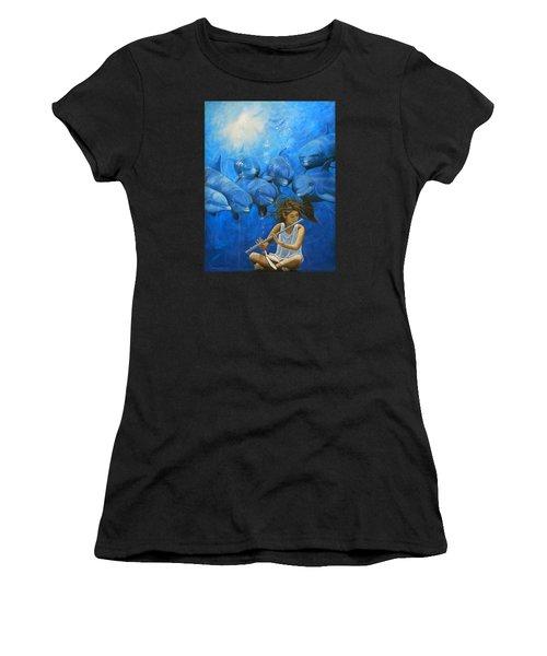 La Flautista Women's T-Shirt (Athletic Fit)