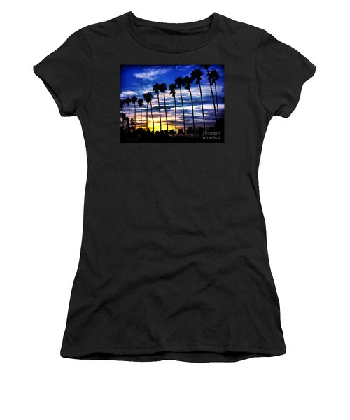 La Jolla Silhouette - Digital Painting Women's T-Shirt (Athletic Fit)