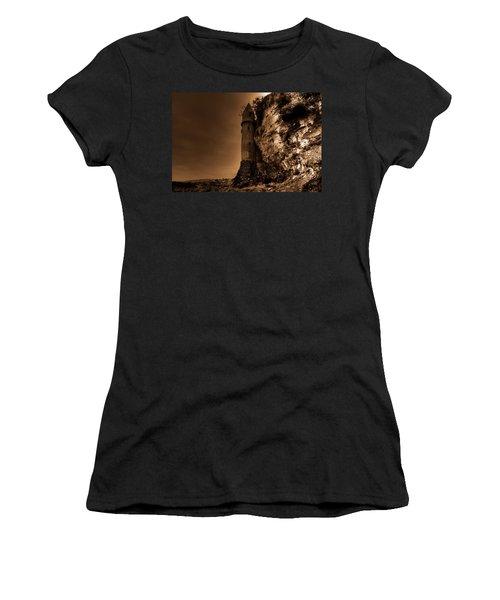 La Tour In Sepia Women's T-Shirt (Athletic Fit)