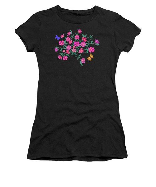La Vie En Rose Design Women's T-Shirt (Athletic Fit)