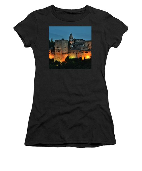 #laalhambra At Dusk - #ig_andalucia Women's T-Shirt (Athletic Fit)