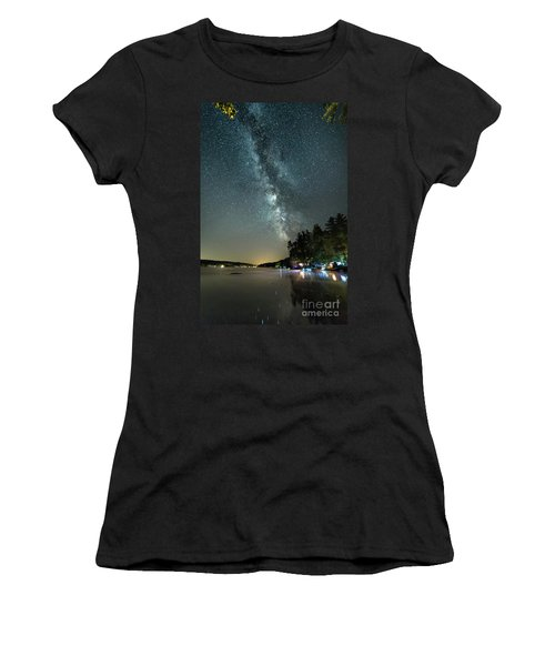 Labor Day Milky Way In Vacationland Women's T-Shirt (Athletic Fit)
