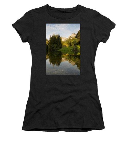 Lac De Fontaine Reflections Women's T-Shirt (Athletic Fit)