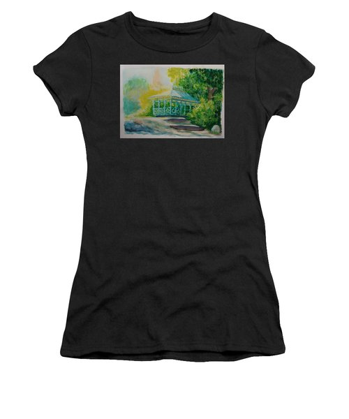 Women's T-Shirt featuring the painting Ladies Pavilion, Cpnyc by Nicolas Bouteneff
