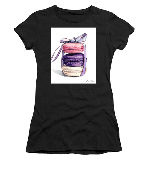 Laduree Macaron Stack Tied With A Bow Pink Violet Women's T-Shirt