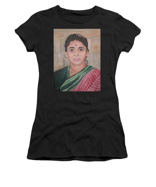 Lady From India Women's T-Shirt (Athletic Fit)