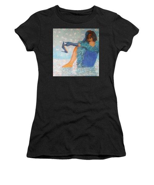 Lady In Blue Women's T-Shirt