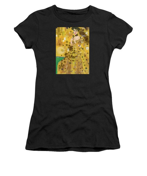 Lady In Gold Women's T-Shirt (Athletic Fit)