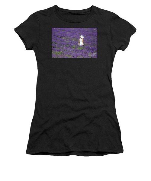 Lady In Lavender Field Women's T-Shirt