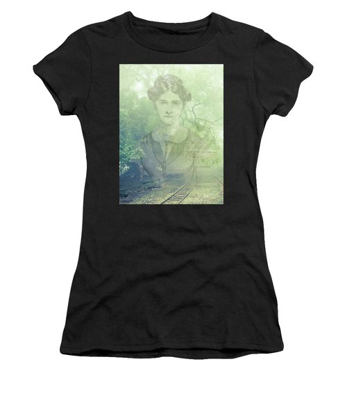 Lady On The Tracks Women's T-Shirt