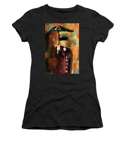 Lady With Umbrella Women's T-Shirt (Athletic Fit)