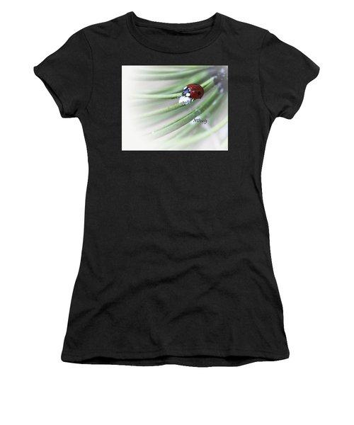 Ladybug On Pine Women's T-Shirt