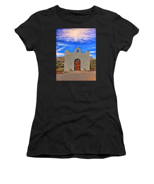 Lajitas Chapel Painted Women's T-Shirt (Athletic Fit)