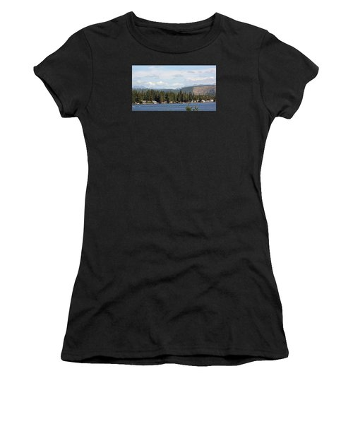 Lake And Mountains Women's T-Shirt (Athletic Fit)