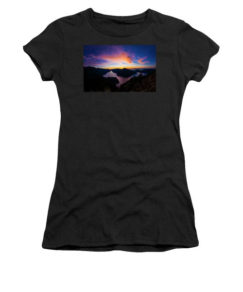 Lake Crescent Sunset Women's T-Shirt (Athletic Fit)