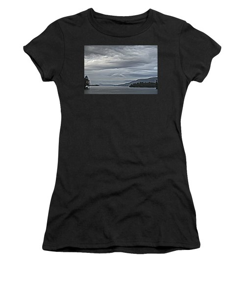 Lake George Rain And Clouds Women's T-Shirt