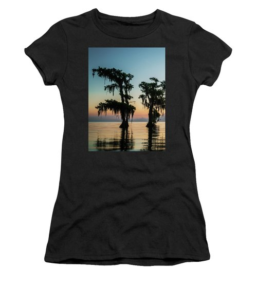 Lake Maurepas Sunrise Triptych No 3 Women's T-Shirt