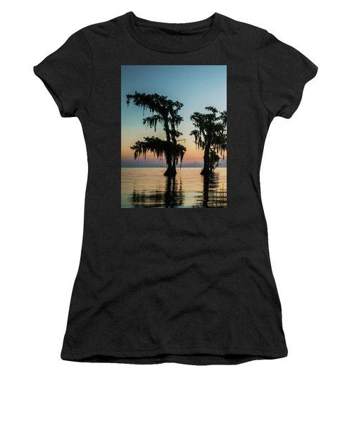 Lake Maurepas Sunrise Triptych No 3 Women's T-Shirt (Athletic Fit)