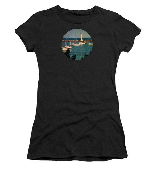 Lake Michigan Sailboats Women's T-Shirt