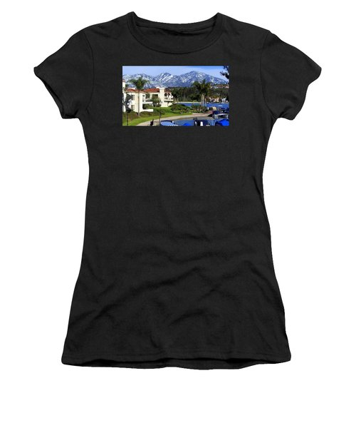 Lake Mission Viejo Snow On Saddleback Mountain Women's T-Shirt (Athletic Fit)
