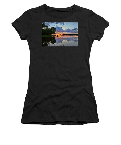 Lake Murray Sc Reflections Women's T-Shirt (Athletic Fit)