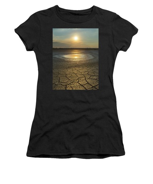 Lake On Fire Women's T-Shirt (Athletic Fit)