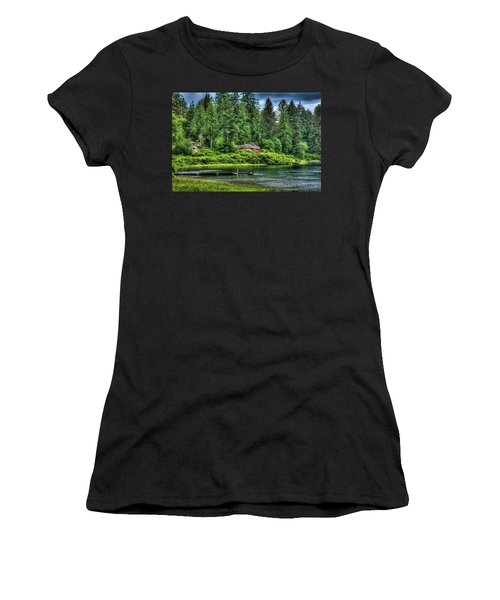 Lake Quinault 3 Women's T-Shirt (Junior Cut) by Richard J Cassato