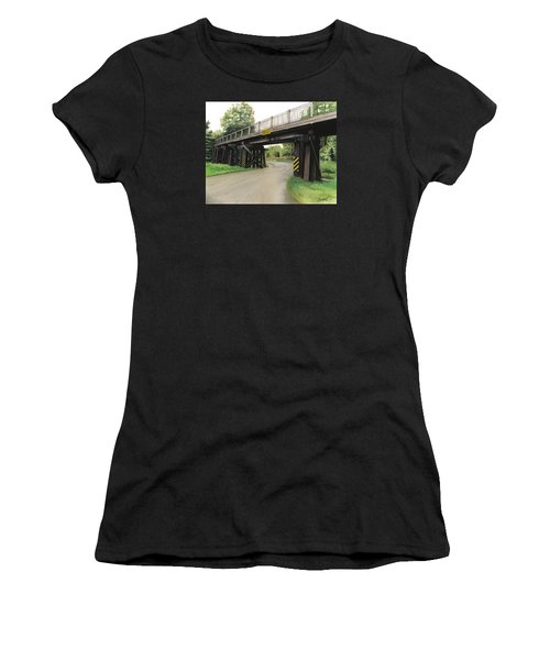 Lake St. Rr Overpass Women's T-Shirt (Athletic Fit)