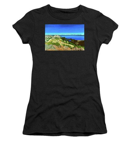 Lake Tahoe Panorama Women's T-Shirt (Athletic Fit)