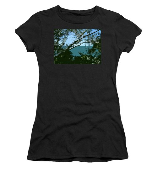 Lake Through The Trees Women's T-Shirt (Athletic Fit)