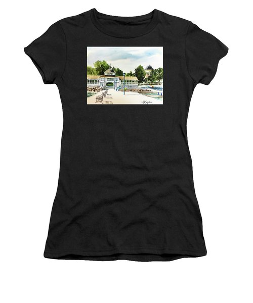Lakeside Dock And Pavilion Women's T-Shirt (Athletic Fit)